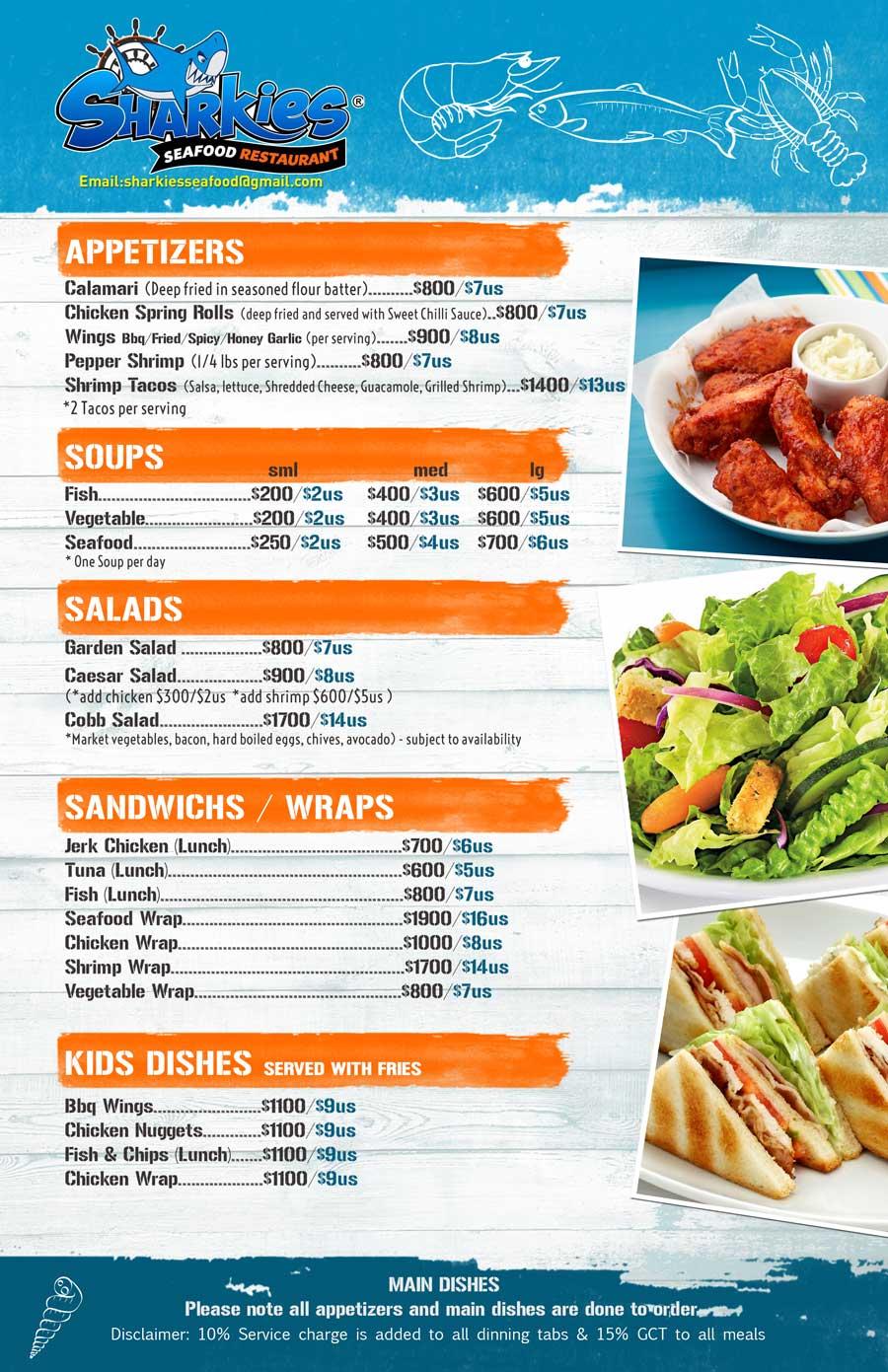 sharkies menu 1
