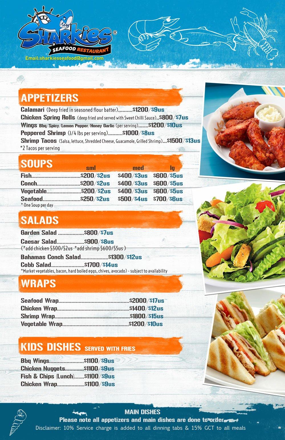 sharkies menu1